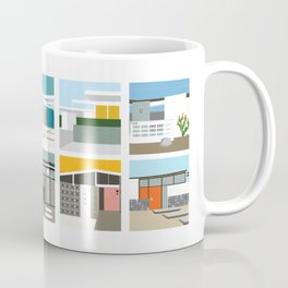 Midcentury Vintage Architecture Inspired by the Palm Springs Desert and Modern California Style Coffee Mug