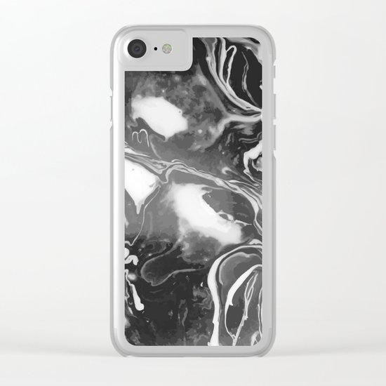 Melt - Asphalt Clear iPhone Case