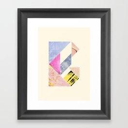 Collaged Tangram Alphabet - B Framed Art Print