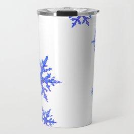 DECORATIVE WINTER WHITE SNOWFLAKES Travel Mug