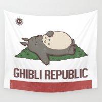 ghibli Wall Tapestries featuring Ghibli Republic by Li.Ro.Vi
