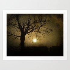 Halloween Sunset Art Print