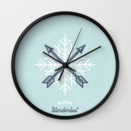 Winter Wanderlust (blue) Wall Clock