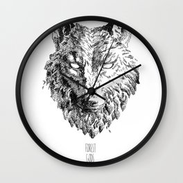 Forest Gods | Wolf Wall Clock