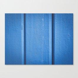 Timber wood blue plank Canvas Print