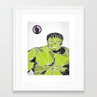 hulk Framed Art Prints featuring Hulk by Josh Ln