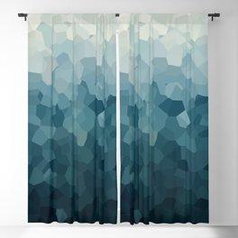 Ice Blue Mountains Moon Love Blackout Curtain