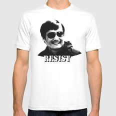 Chen Guangcheng RESIST  Mens Fitted Tee White MEDIUM