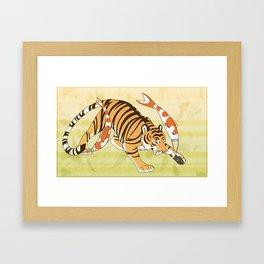 Koinobori Tiger Framed Art Print