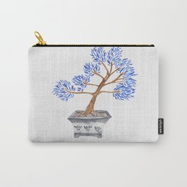 My husband's bonsai 02 in blue Carry-All Pouch