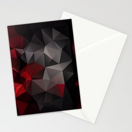Polygon red black triangles . Stationery Cards