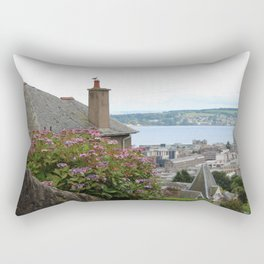 House on a Hilltop Rectangular Pillow