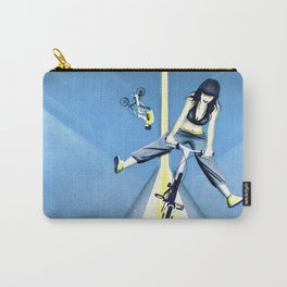 Happy Joyride (blue yellow) Carry-All Pouch