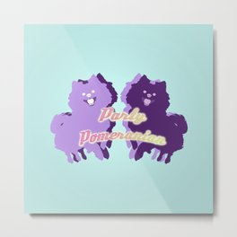 Party Pomeranian Metal Print