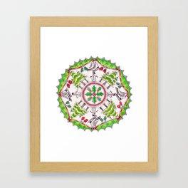 Winter Wreath Mandala Framed Art Print