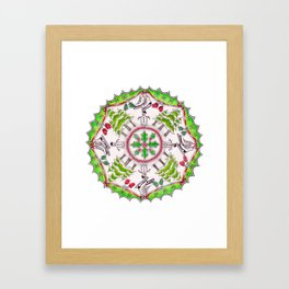 Winter Wreath Mandala Framed Art Print