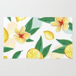 Floral Lemon Splash Rug