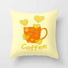 Coffee Fanatic Throw Pillow