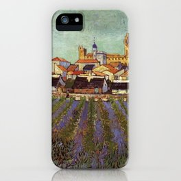 Lavender fields and View of Saintes-Maries by Vincent van Gogh iPhone Case