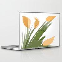 peach Laptop & iPad Skins featuring Peach by Wonder Art