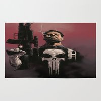 punisher Area & Throw Rugs featuring Punisher by Dave Seguin