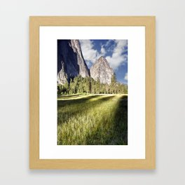 Cathedral Rocks in Yosemite Valley Framed Art Print
