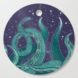 Giant Tentacle Blue Redux Cutting Board