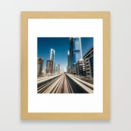 dubai metro rail  Framed Art Print