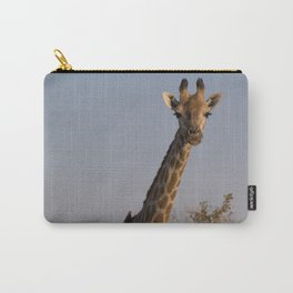 Giraffe and Oxpecker Carry-All Pouch