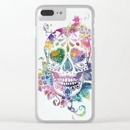 Sugar Skull Clear iPhone Case