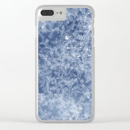 Winter frost pattern Clear iPhone Case
