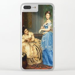Edouard Boutibonne - Getting Dressed Clear iPhone Case