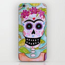 Mi Señora Frida Kahlo Painting by Prisarts iPhone Skin