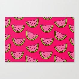 Pink Watermelon Canvas Print