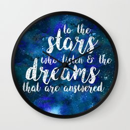 Dreams That Are Answered Wall Clock