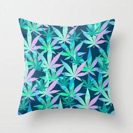 Holographic Marijuana Throw Pillow