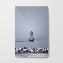 Burlington Breakwater North Lighthouse Metal Print
