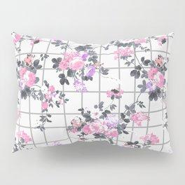 Elegant blush pink violet gray floral geometrical Pillow Sham
