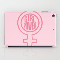girl power iPad Cases featuring girl power by jupiter