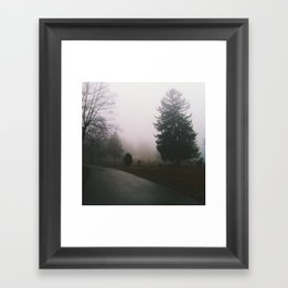 A Dim Path Framed Art Print