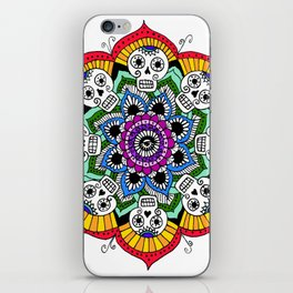 mandalavera de colores iPhone Skin