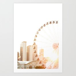 Chicago's Ferris Wheel Art Print