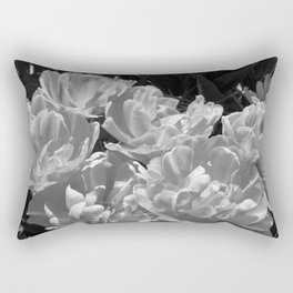Foxy Foxtails Black and White Rectangular Pillow