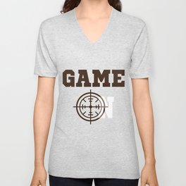 Funny Laser Tag Party T-Shirt Mode On Game on Unisex V-Neck