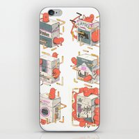 cigarettes iPhone & iPod Skins featuring Cigarettes Deluxe by Kensausage