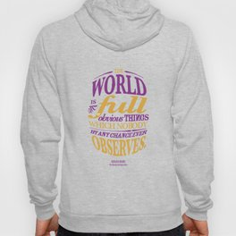 Sherlock Holmes novel quote – obvious things Hoody