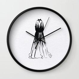 Little Black Halter Dress Wall Clock