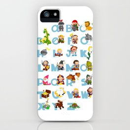 ABC  medieval (english) iPhone Case