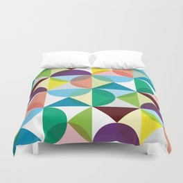 Geometric Pattern #102 (colourful pastels) Duvet Cover