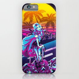 Seraphine league of legends game 80s palm vintage iPhone Case